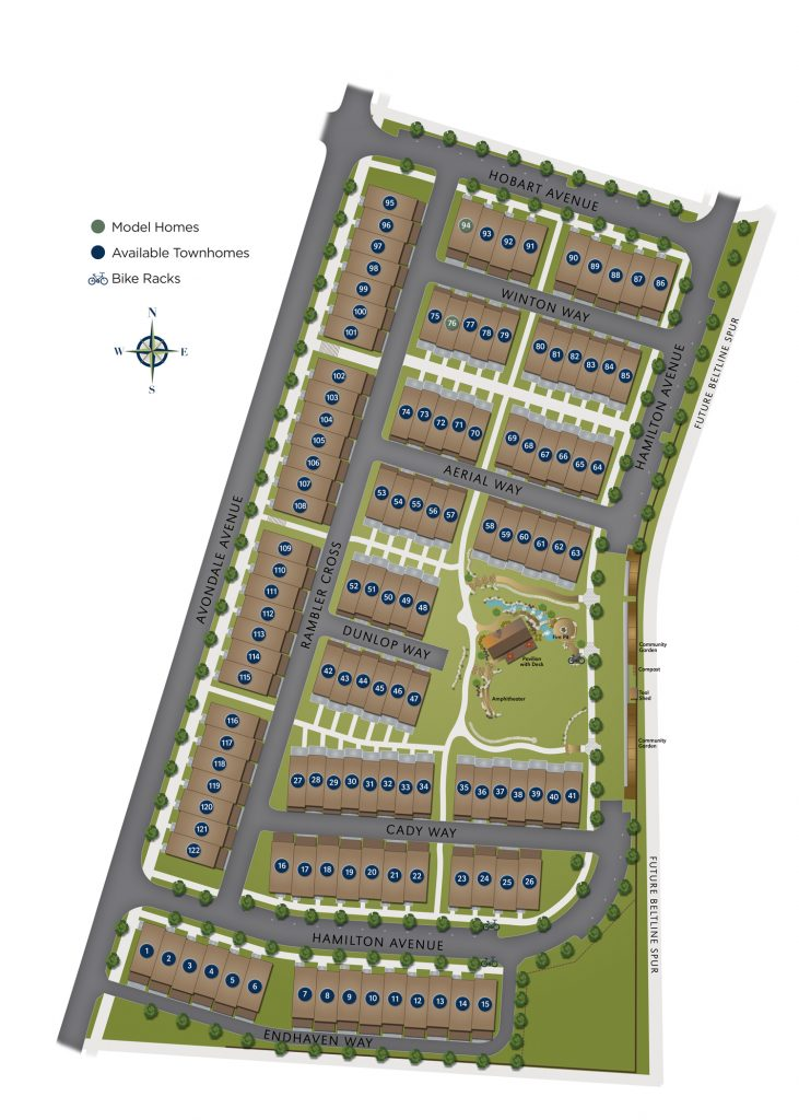 A modern community the swift site plan edward andrews homes for Modern site plan